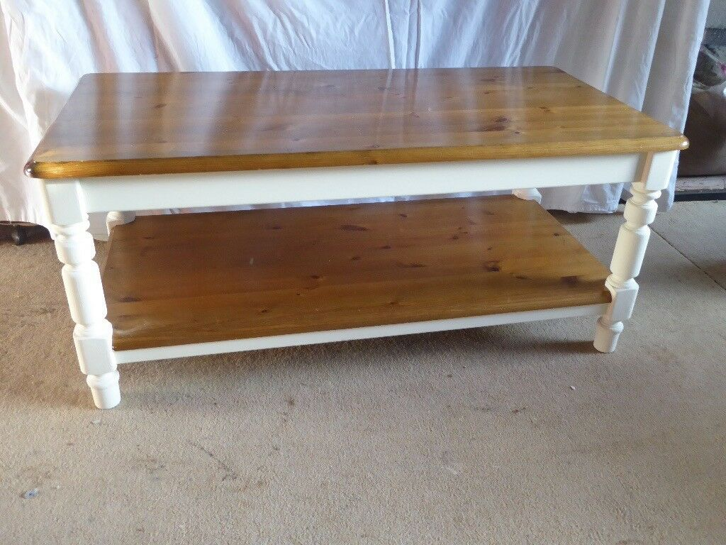 pine coffee table. Pine Coffee Table By Ducal, Up-cycled With White Chalk Paint