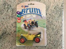 Brum a diecast car made by Corgi, circa 1992 new in bubble card