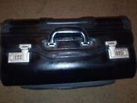 large black combination leather business case