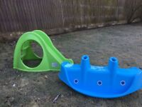 Toddler slide and sea saw