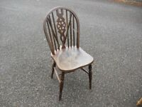 Vintage Beech Wheel Back Kitchen Chair Great 4 Shabby To Chic