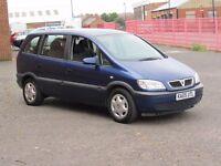 2005/05 Vauxhall Zafira 1.6l petrol, 12 Months Mot, 2 Keys, HPI Clear, 7 Seater, service history