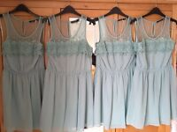 BNWT Mint green/ turquoise bridesmaid dresses size 12,10 & 8