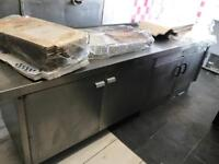 Stainless steel tables / catering / takeaway equipment/ pizza prep tables /