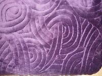 Double Purple bed throw