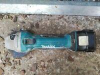 Makita 18v grinder with 3.0Ah battery