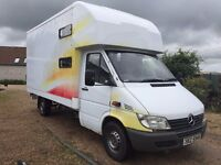 2001 MERCEDES SPRINTER HORSE BOX 3.5T MOT 3/2017 DELIVERY ANYWHERE IN UK