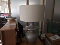 Large Grey & Silver Lamp