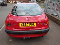 Toyota corolla 2000 reg 140K mileage, 12 MTHS MOT, good condition for the age. Engine is superb