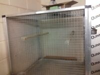 Parrot cage.