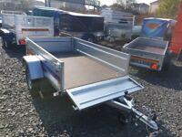 BRAND NEW MODEL 7X4 FLAT TIPPING TRAILER 750KG