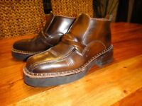 Base leather men's slip on boot/shoe - very rare