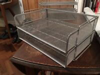 METAL MESH FILING TRAYS (PAIR)