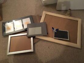 Variety of 7 photo frames