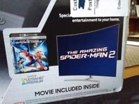 NEW SEALED Samsung UBDK8500 Blu Ray player includes promotional Spiderman2 4K movie