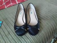 Dune black flat shoes size 5