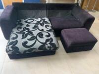 FREE 4 seater corner sofa with storage footstool