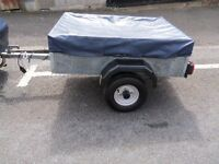 TRAILER CADDY 4X3 GALVANISED TRAILER WITH COVER AND SPARE WHEEL