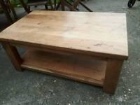 Coffee table,solid oak wood