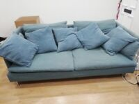 Blue/green IKEA sofa (3 person), Soderhamn for sale