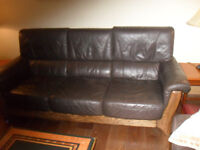 Two Matching Leather Sofas