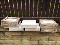 80 British ceramic wall tiles in cream (marbel effect),new,bargain for a lot, only £45,no offers