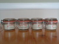 Four x 125ml Kilner Clip Top Glass Storage Jars (Listing is for all four) NWT