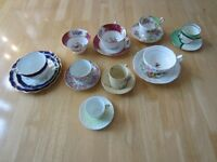 Collection of fine cups and saucers