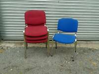 Upholstered office or reception chairs