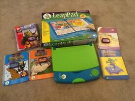 LeapPad Learning System with orignal Interactive Book plus 4 additional books and cartridges
