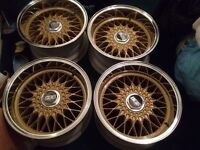 Bmw Bbs rz deep dish alloy wheels rare non flat back not RS