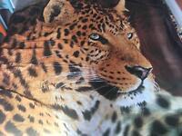 Double duvet set leopard