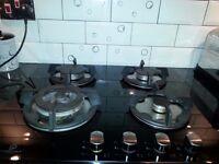 Premier range Black Glass Gas Hob 60cms