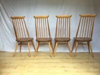 Absolutely stunning set of Ercol dining chairs including 2 carver chairs