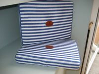 NEW Pair Seat Cushions by Equestrian Designer El Caballo, Chic & Comfortable for one's Garden