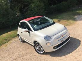 FIAT 500c Convertible Pearl White