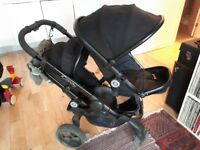 ICandy Peach 3 black double buggy travel system 0-24 months with carrycots and car seats