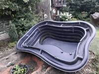 Fish pond with accessories