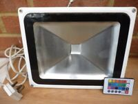 lovely led multi colour changing light & remote,indoors/outdoors,any party,any occassions..