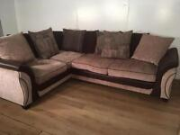 Beautiful Brown corner sofa with free delivery within London