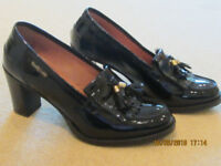 Russell and Bromley Black Patent Leather Loafers