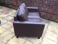 LEATHER TWO SEATER IN VERY GOOD CLEAN CONDITION DELIVER FREE LOCAL M30