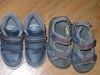 Bundle of baby boy shoes and sandals size 7 infant. Good condition.