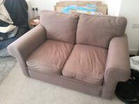 2-Seater Brown Sofa