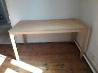 Rectangular wooden table, 75cm high x 75cm x 150cm