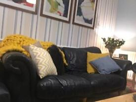 3 Seat Leather Sofa for sale - £30!