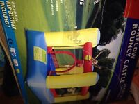 Kids bouncy castle with electic fan pump used but inbox v good condition