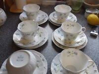 queens cups saucers sugar bowl ,plates