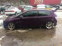 breaking honda civic ep2 sport 1.6 facelift purple modified ep3 type r mugen