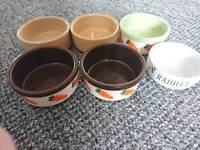 Porcelain rabbit bowls